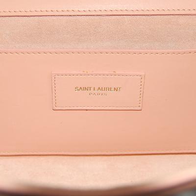 logo point clutch bag pink